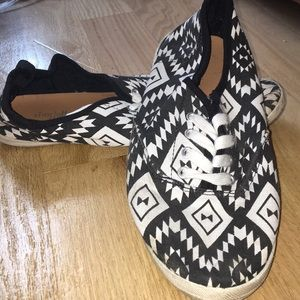 Charlotte Russe black and white shoes